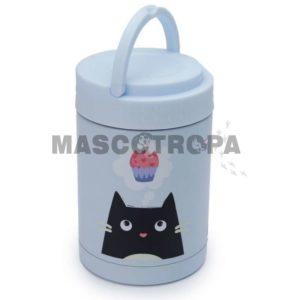 Tupper Termo Portátil para Comida de Acero Inoxidable Gato Feline Fine