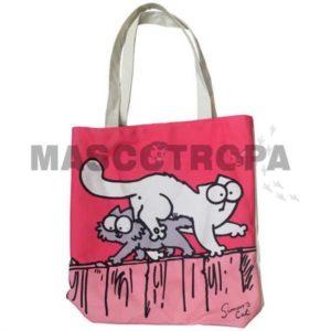 Bolsa Algodón de Simon's Cat Rosa