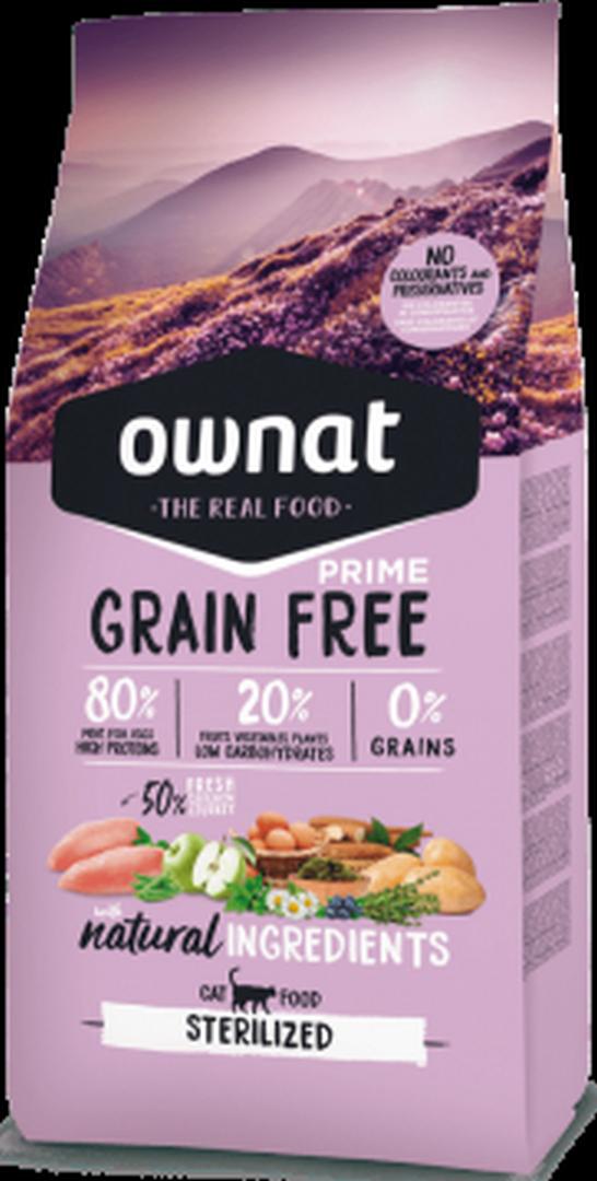 OWNAT Grain Free Prime Gato Esterilizado